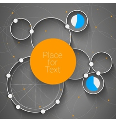 Creative rounds vector image