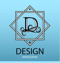 Design modern logo letter monogram for business vector