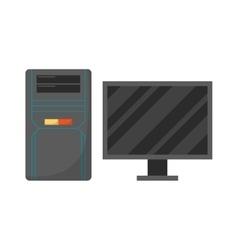 Desktop computer vector image