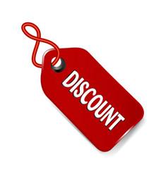 discount label tag icon vector image