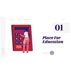 education concept website landing page woman vector image