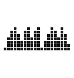 Equalizer play radio icon simple black style vector