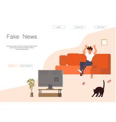 Fake news website vector