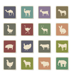 farm animals icon set vector image