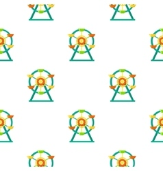 Ferris wheel icon in cartoon style isolated on vector