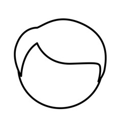 Figure face man icon vector