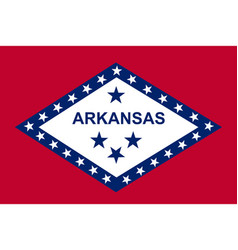Flag arkansas as vector