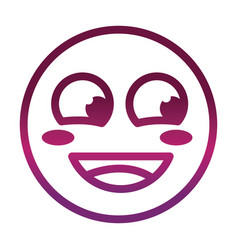 flushed face funny smiley emoticon expression vector image