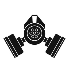 Gas mask icon simple style vector