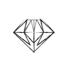 gemstone diamond jewel vector image