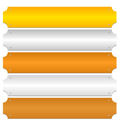 Gold silver bronze platinum copper metal bars vector