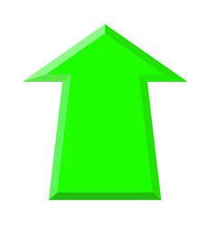 Green up arrow vector