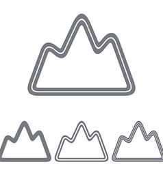 Grey line exploration logo design set vector