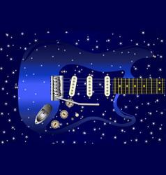 Guitar star background vector