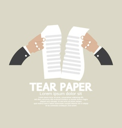 Hands Tears Paper vector