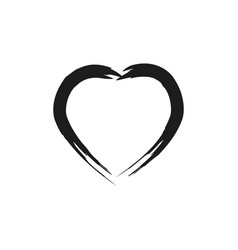 heart black on white background sign symbol vector image