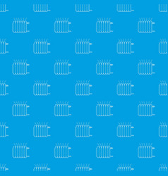 heating battery pattern seamless blue vector image