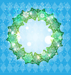 holiday winter frame vector image
