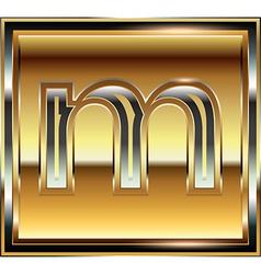Ingot Font Letter m vector
