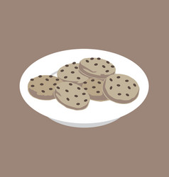 Isometric cookies vector