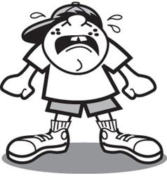 Kid crying vector image