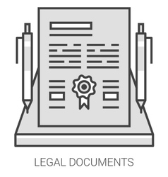 Legal documents line infographic vector