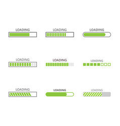 Loading bar progress icons vector