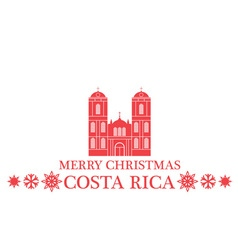 Merry Christmas Costa Rica vector