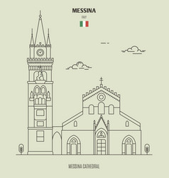 Messina cathedral italy vector