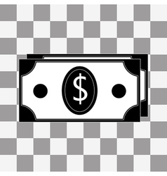 Money icon on a transparent vector image vector image