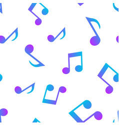music note icon seamless pattern background vector image
