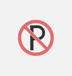 no parking icon vector image