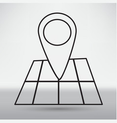 pin on the map vector image