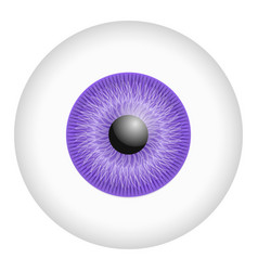 purple iris eyeball mockup realistic style vector image