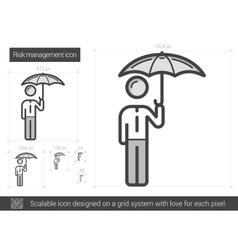 Risk managment line icon vector