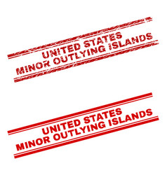 Scratched textured united states minor outlying vector