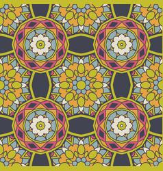 seamless ceramic tile design pattern background vector image