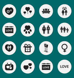 Set of 16 editable amour icons includes symbols vector