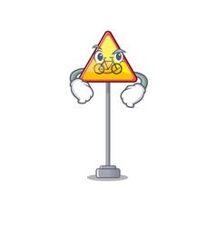 Smirking no cycling character shaped a mascot vector