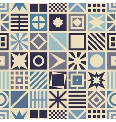 Square seamless pattern vector