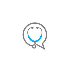 Stethoscope chat advice doctor consultation vector
