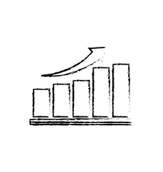 Success arrow up vector image