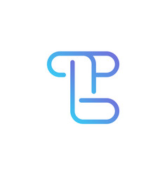T letter in outline style on white background vector