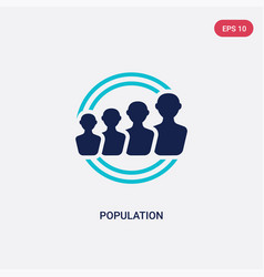 two color population icon from digital economy vector image
