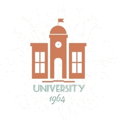 University Emblems And Symbols - Isolated On White vector image