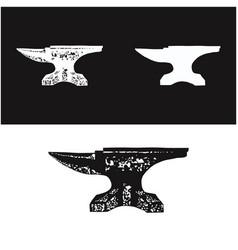 Vintage rustic blacksmith iron anvil foundry logo vector