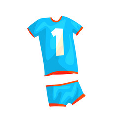 Volleyball uniform for man or woman in flat style vector