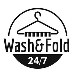 Wash and fold laundry logo simple style vector