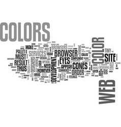 web site design color for you text word cloud vector image