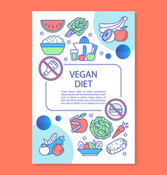 whole food diet brochure template layout vector image